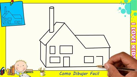 casa facil como dibujar una casa facil paso a paso para ni 241 os y