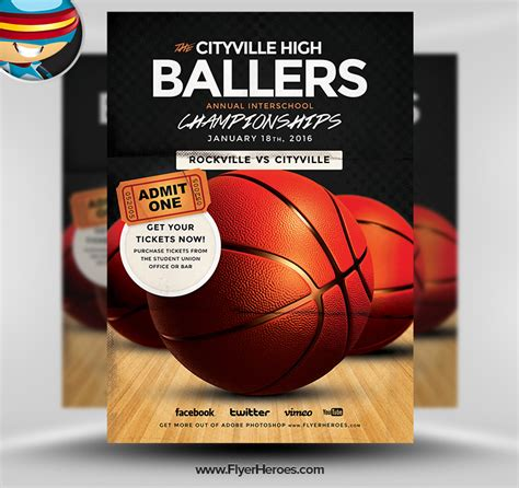 12 Basketball Tournament Flyer Psd Templates Free Images Basketball Game Flyer Template Free Basketball Photoshop Templates