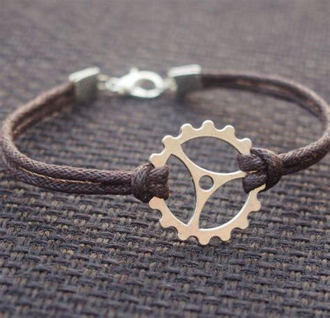 Handmade Bracelets For Guys - wholesale bracelets gearwheel bracelet brown leather