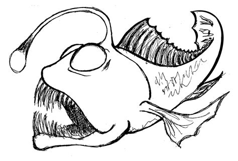 Angler Fish Coloring Page angler fish coloring page coloring pages