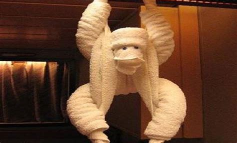 Towel Origami Monkey - diy towel origami ideas for your home