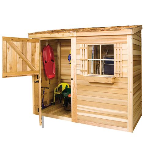 Shed 8 X 4 by Cedarshed Bayside 8x4 Lean To Shed B84 Free Shipping