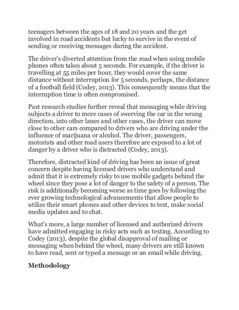 Essay Texting And Driving by Essay On Texting While Driving Is Dangerous Docoments Ojazlink