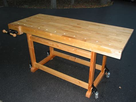 work bench on wheels build this woodworker s workbench to learn mortise tenon