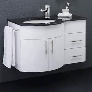 Install Granite Vanity Top Wall Vanity Unit With Granite Top Left Handed 870x550mm