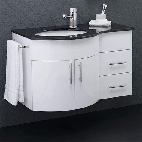 Granite Top Vanity Unit by Wall Vanity Unit With Granite Top Left Handed 870x550mm