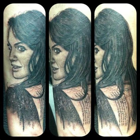 angelina jolie portrait tattoo 1000 images about portrait tattoos on pinterest star