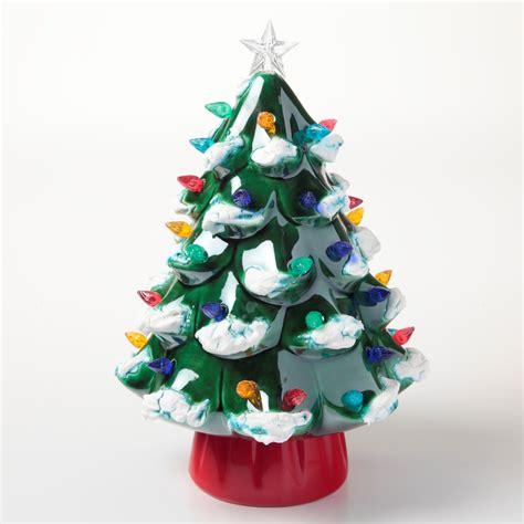 green head christmas tree snow fall duncan ceramics tree ilovetocreate
