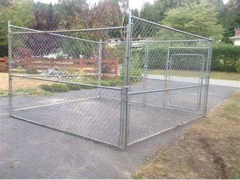 chain link kennel panels igloo house and chain link kennel panel style delivery included outside