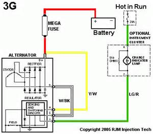 alternator wiring diagrams 1g 2g and 3g