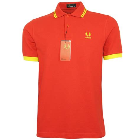 Polo Shirt Spain 3 fred perry spain country shirt m4298 943