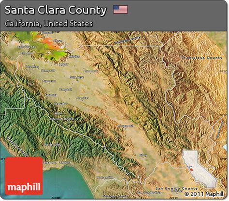 free satellite map of santa clara county