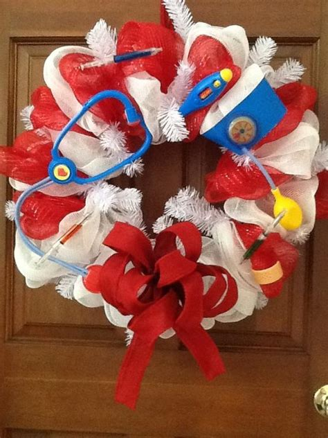 christmas decoration ideas formedical office items similar to nurses wreath professional wreath doctors wreath white wreath