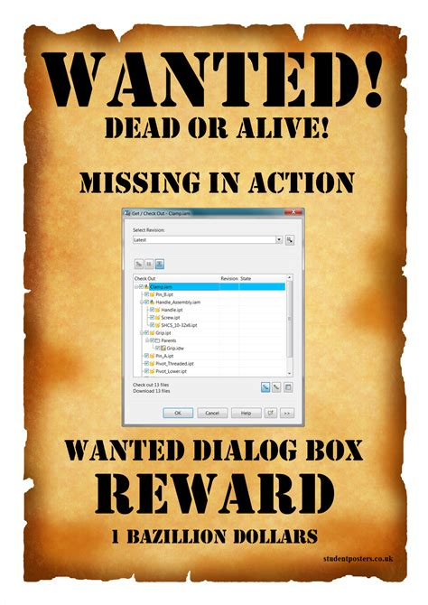 wanted poster template adraft tech talk wanted missing dialog box