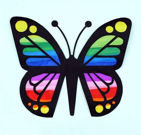 Butterfly Papercraft - manualidades con papel c 243 mo hacer una vidriera pequeocio