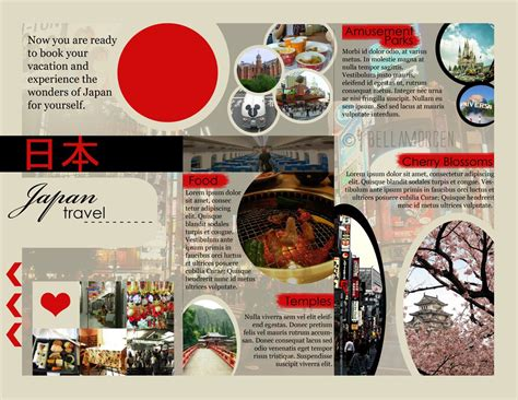 japan travel brochure template japan travel brochure gallery