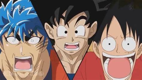 goku and luffy vs toriko son goku vs monkey d luffy vs toriko ganador hd youtube