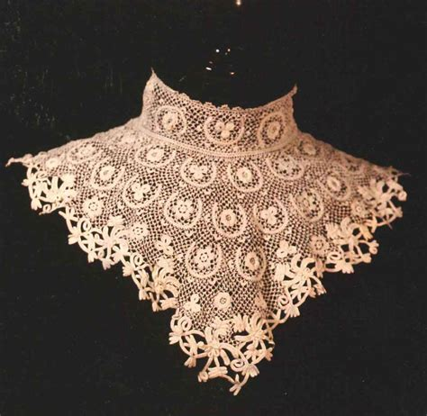 pattern crochet lace crochet lace collar pattern free patterns for crochet