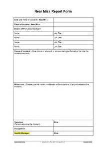 near miss incident report template near miss report form images frompo
