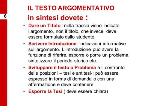 antitesi testo argomentativo tema di italiano tipologia b il saggio breve ppt