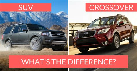 what is an suv just what is the difference between an suv and a crossover