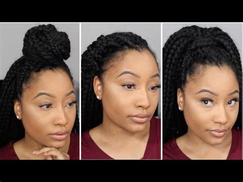 3 hairstyles for crochet box braids | jaz jackson youtube
