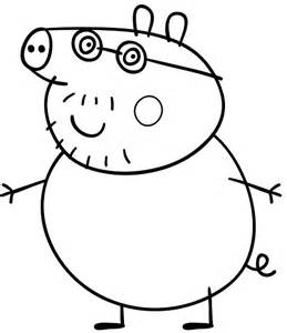 Danny Peppa Pig Colouring Pages sketch template