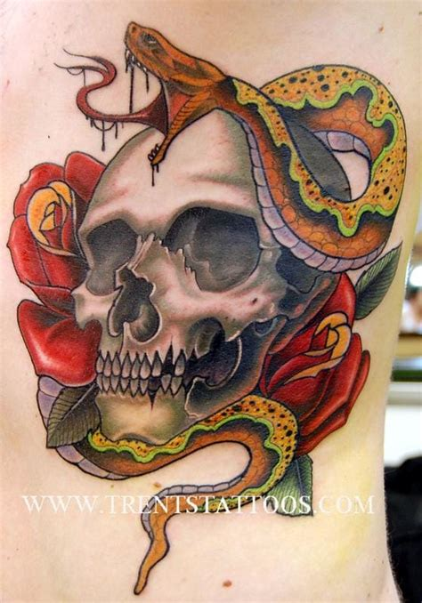 15 potent skull and snake tattoos tattoodo