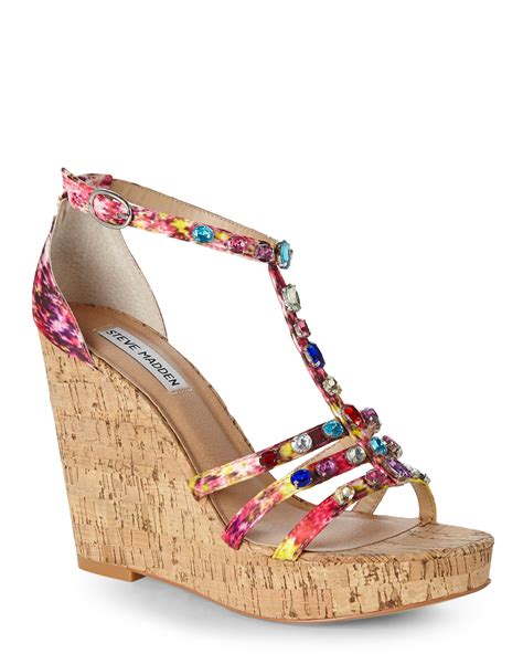 multi color wedge sandals multi color wedge heels fs heel