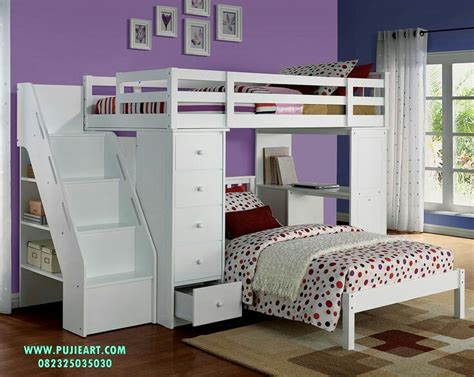 Tempat Tidur Minimalis Kayu Cat Duco 160x200 Berlaci Mewah tempat tidur anak tingkat berlaci tempat tidur anak