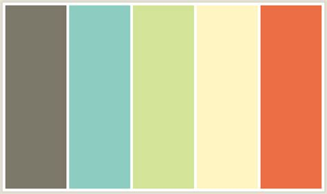 color schemes colorcombo284 with hex colors 7c786a 8dcdc1 d3e397