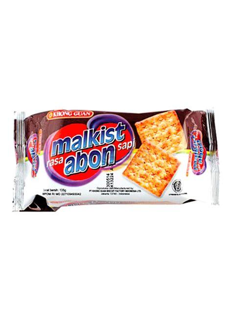 Biskuit Malkist Abon Sapi Biskuit Khong Guan Khong Guan Crackers Malkist Abon Sapi Pck 135g Klikindomaret