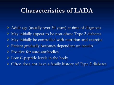 Mody And Lada Lada Mody Diabetes