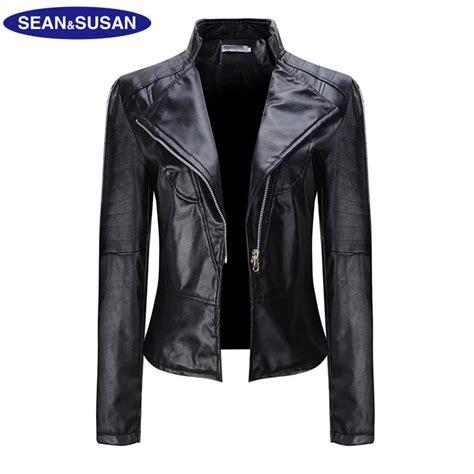 Susan Biker Leather Jacket susan winter classic black motorcycle leather jackets slim design bomber faux leather