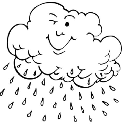 lluvia para colorear pintar im genes dibujos para pintar nubes con lluvia