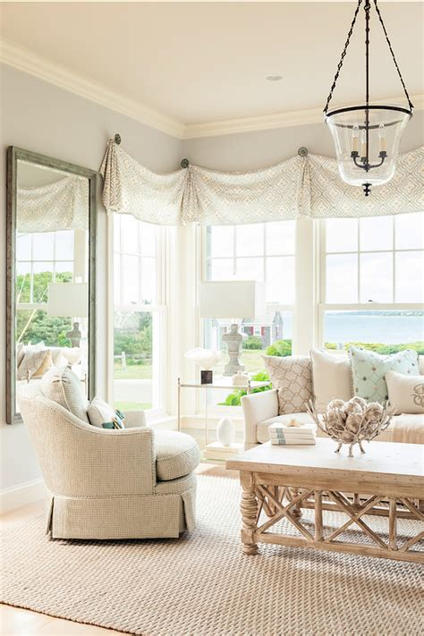 Neutral Curtains Window Treatments Designs Coastal Home With Neutral Interiors Home Bunch Interior Design Ideas