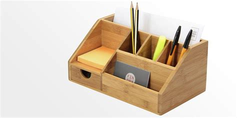 Letter Rack Organiser by Stationery Organiser Letter Holder Bamboo Desk Organiser
