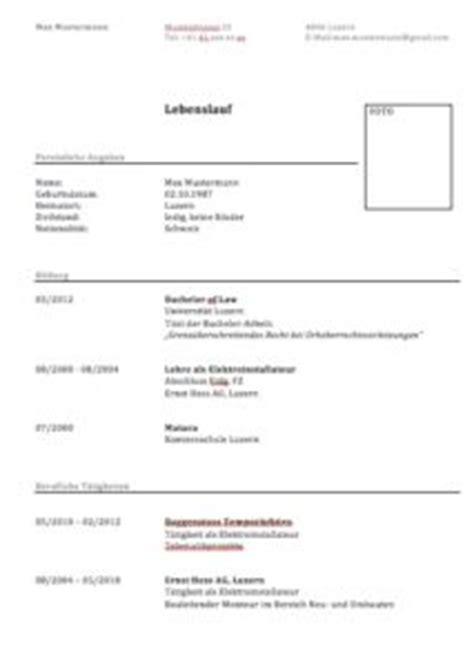 Lebenslauf Vorlage Word Klassisch Lebenslauf Vorlage Klassisch Und Modern Muster Und Vorlagen Kostenlos