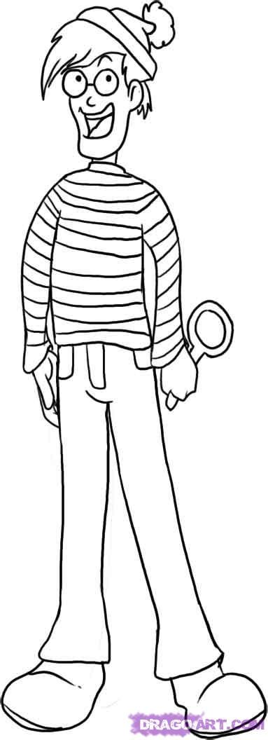 How To Draw Waldo Step By Step Characters Pop Culture Free Coloring Pages Wally Sox