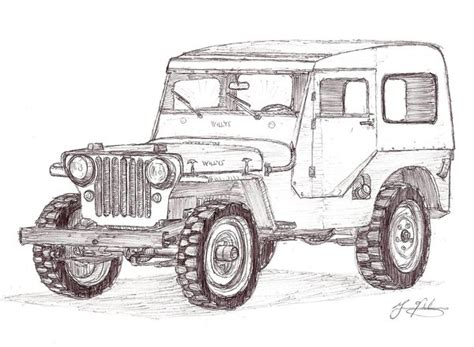 how to draw a army jeep jeep drawing the cj2a page forums