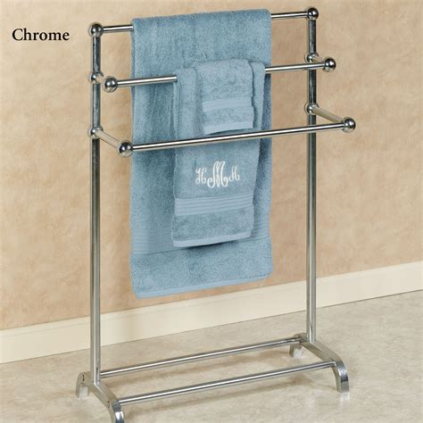 towel stands for bathrooms brushed nickel free standing towel racks for bathrooms brushed nickel