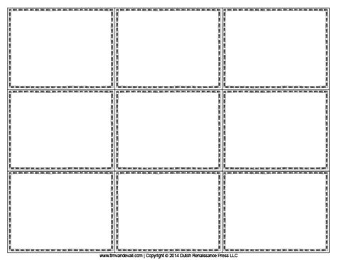 Blank Flash Card Templates Printable Flash Cards Pdf Format Free Flash Card Template