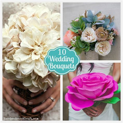 Handmade Wedding Bouquet Ideas - 10 diy wedding bouquets