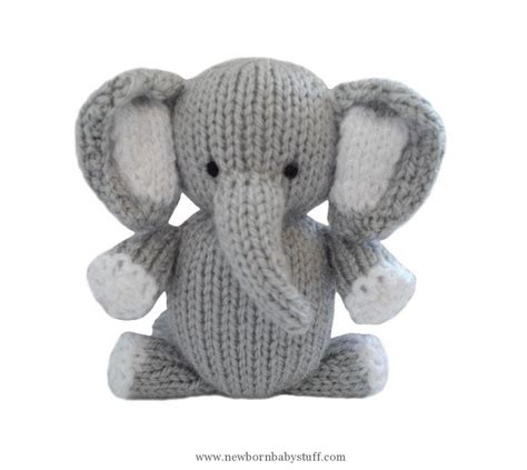 Patchwork Elephant Pattern - baby knitting patterns patchwork elephant knit pattern