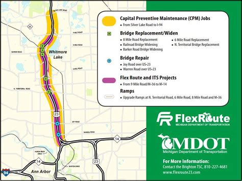 mdot construction map mdot has a solution for heavy traffic on us 23 michigan