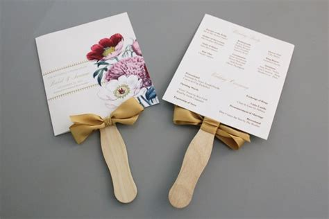 wedding fan templates free a up of free wedding fan programs b lovely events