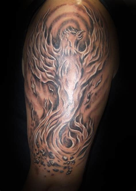 pheonix tattoos for men black and grey will spencer