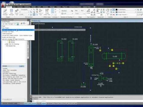 tutorial autocad p id 2013 autocad p id 2012 tutorial 06 autocad p id datamanager