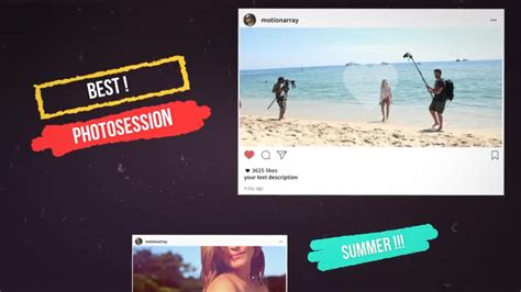 Instagram Promo After Effects Templates Motion Array Free Instagram After Effects Template
