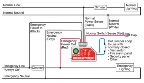 emergency relay wiring diagram k